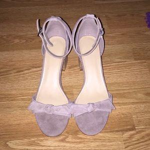 New gray/tan Marc Fisher heels
